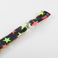 Woven wristbands with round...