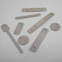 Aluminium or brass tags