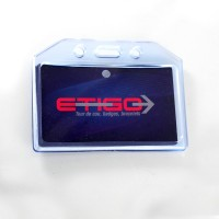 Porte-badge semi-rigide PVC...