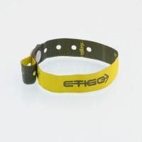 L shape woven wristbands