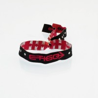 Embroidered woven wristbands