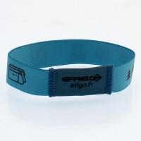 Elastic woven wristband