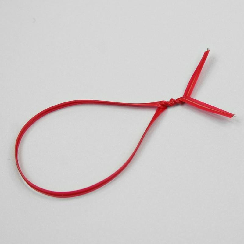 Attache sachet en plastique rouge