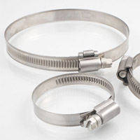 Hose clamps with solid band